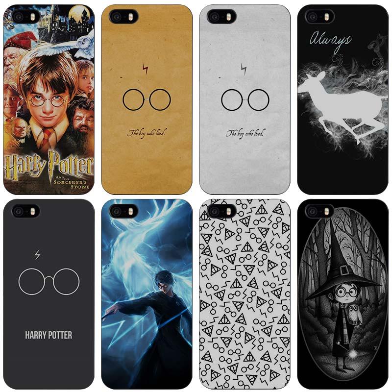 Harry Potter Hard Black Plastic Case Cover for iPhone Apple 4 4s 5 5s SE 5c 6 6s 7 7s Plus