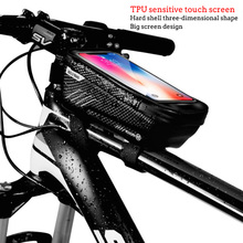 WILD MAN hard shell waterproof touch screen bicycle bag mobile phone holder Bike Bag for size 6.5 inches or less