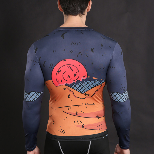 Naruto Cross-fit Long Sleeve Shirt in Various Characters