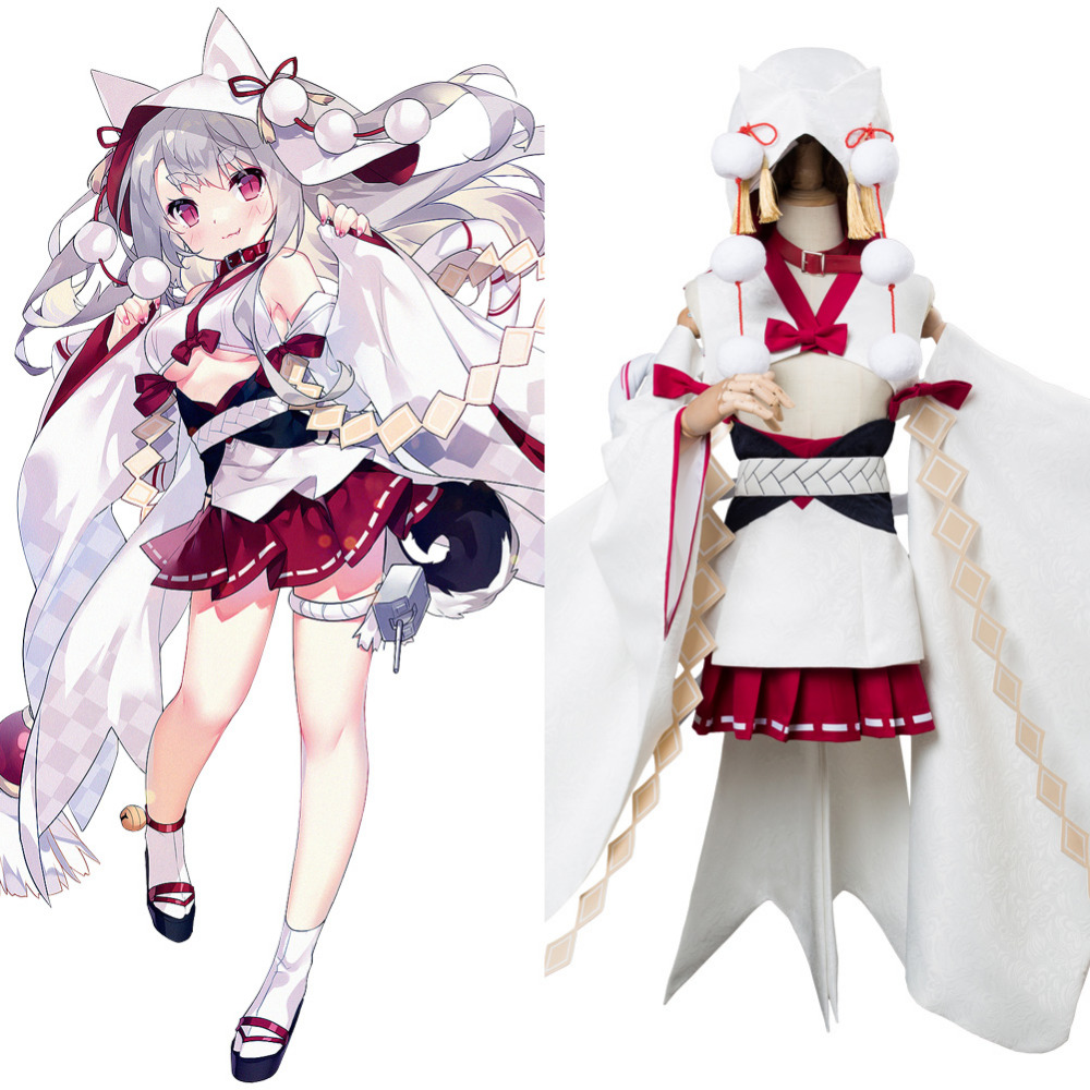 Azur Lane Cosplay Costume Yuudachi Costume The Bride of Solomon Wedding Dress Halloween Carnival Costumes For Women Girls