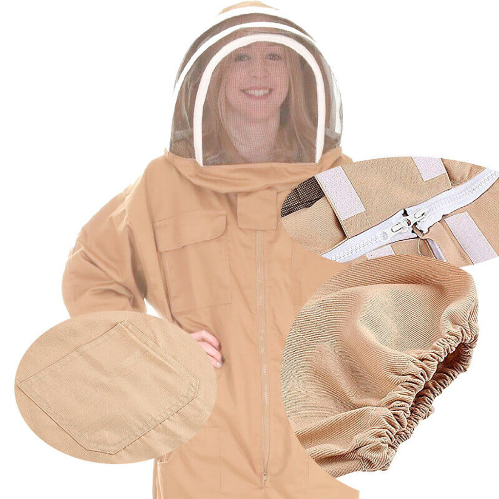 Image 3 - beekeeping supplies Breathable Half Body Anti Bee Clothes with Cap Beekeeping Protective Suit ToolEquipconvenient  product-in Protective Clothing from Home & Garden