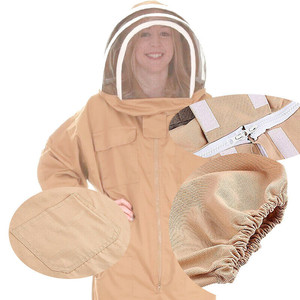 Image 3 - beekeeping supplies Breathable Half Body Anti Bee Clothes with Cap Beekeeping Protective Suit ToolEquipconvenient  product