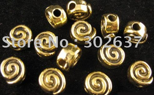 FREE SHIPPING 180Pcs Antiqued gold chunky spiral spacers A1173G