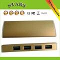 Aleación de aluminio de alta velocidad mini de 4 puertos micro usb 3.0 hub portable usb del cargador del divisor para apple imac macbook pro air pc Laptop