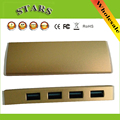 Liga de alumínio micro usb de alta velocidade mini 4 portas 3.0 hub portátil usb splitter charger para apple imac macbook pro air pc Laptop