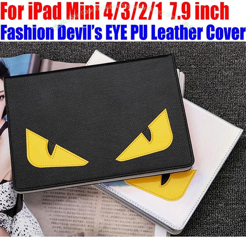 Чехол Smart Case для IPad Mini 4 3 2 1 7,9 дюймов модные дьявол s глаз PU кожаный чехол  ...
