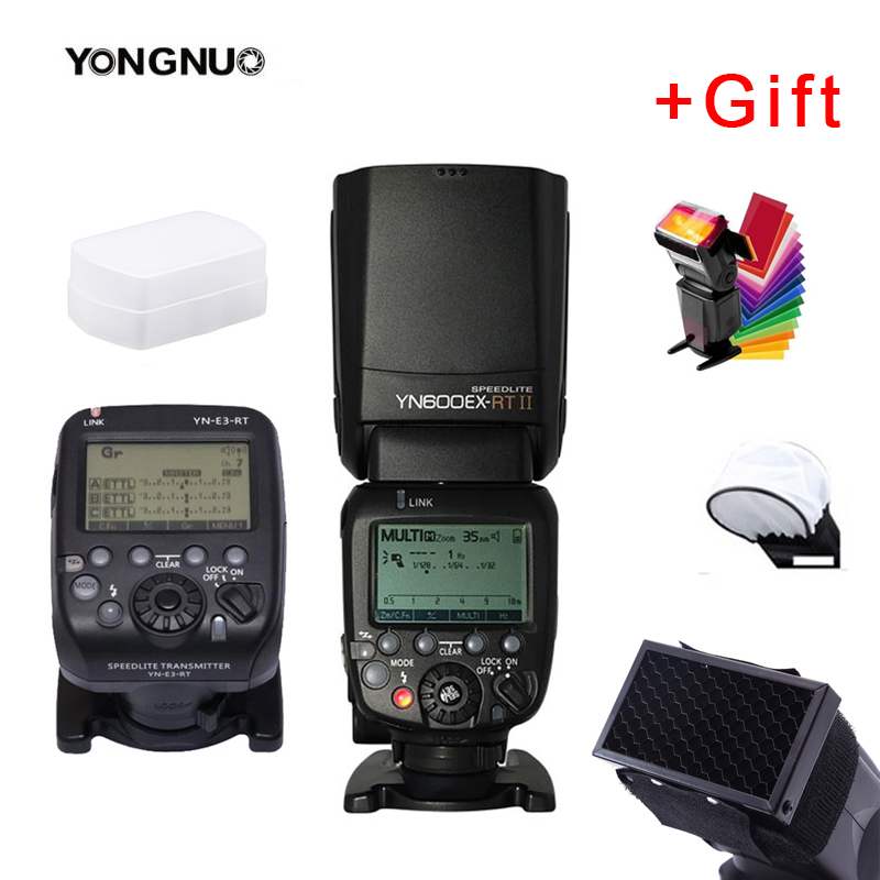 YONGNUO YN600EX-RT II YN600EX RT with YN-E3-RT For Canon 6d 60d 550d 650d DSLR Cameras  HSS TTL Flash Speedlite Flash Controller
