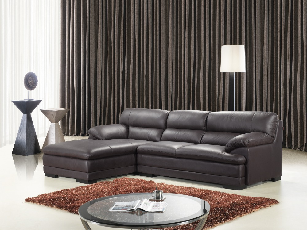 Morden sofa leather corner sofa living room sofa furniture corner sofa factory export Living rooms with leather sofas