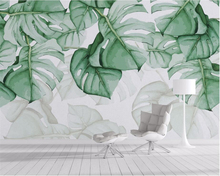 Custom murals wallpaper Tropical plants background wall papers home decor papel de parede 3d tapiz Beibehang