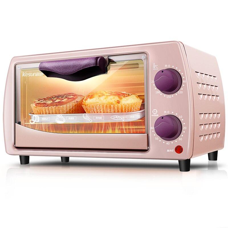 ZA14 3C rose/noir four électrique MINI four timing 2 couches fabricants de gâteaux reflux four 800 W avec 2 tube de chauffage en acier inoxydable 9L