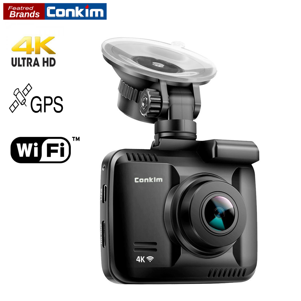 Conkim Car Dash Camera Wifi Recorder GPS HD DVR GS63H 4K Ultra HD 2160P Driving Recorder Auto Registrar Wifi Camera 32GB TF Card conkim mini 0807 ambarella a7 dash camera 1080p full hd video recorder registrar car dvr gps parking guard record dual tf card