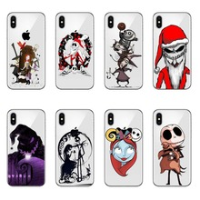 купить The Nightmare Before Christmas Cartoon Durable Case for Apple iPhone 6 6s 7 8 Plus 4 4S 5 5S SE 5C for iPhone XS Max XR по цене 121.14 рублей