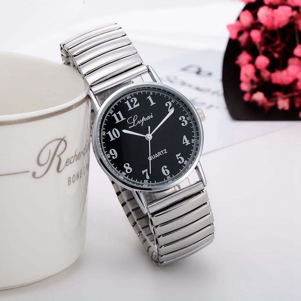 LVPAI Ladies Women Unisex Wrist Watch Fashion minimalistic Stainless Steel Quartz Lover's watches couples watch man and ladies