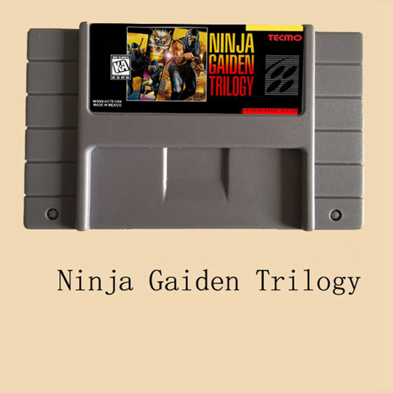 Ninja Gaiden Trilogy USA Version 16 bit Video Game Card