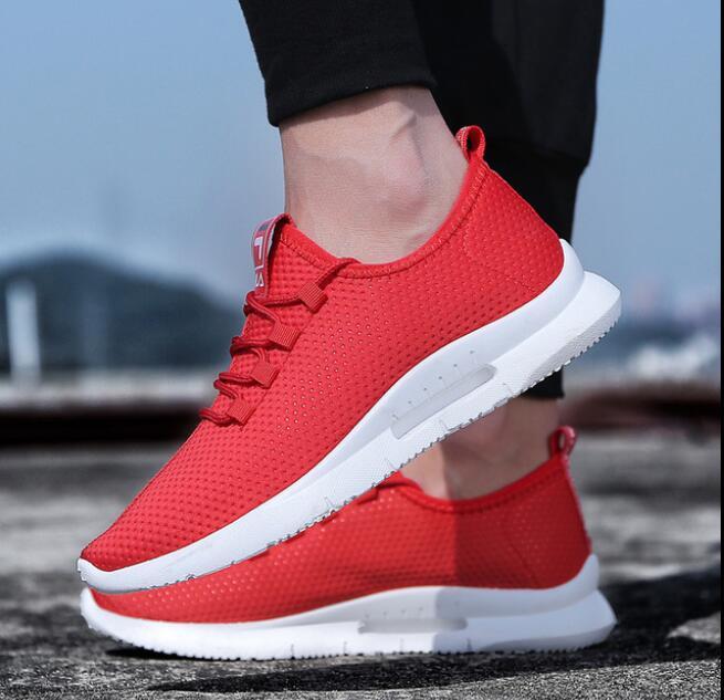 SZTYLSZH zapatos corrientes para los hombres 2018 verano nuevos hombres zapatillas Lace Up Top Jogging Zapatos Hombre calzado deportivo transpirable venta