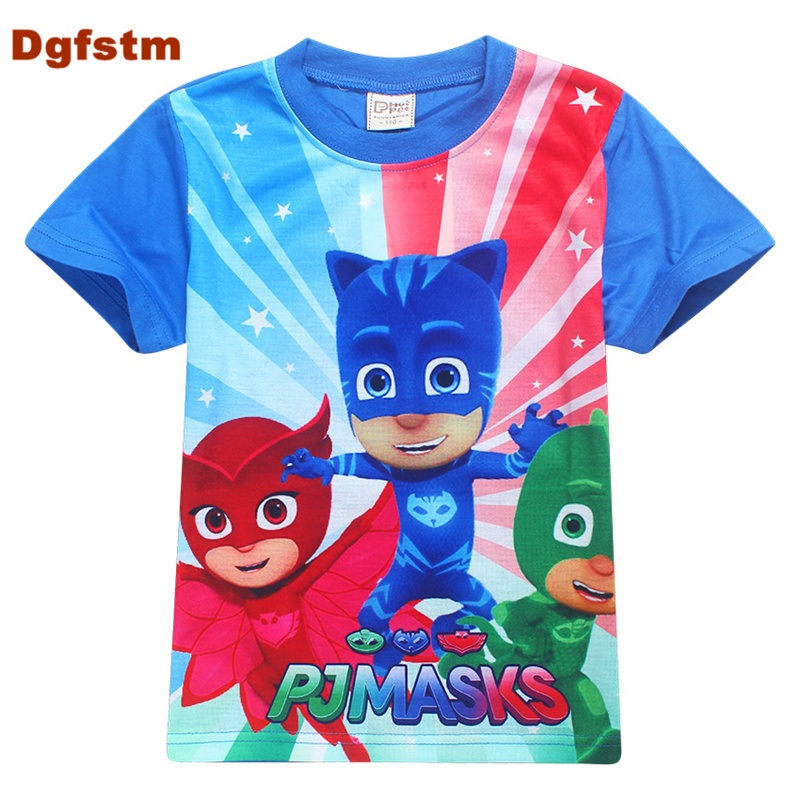 c12b7f1f2 DGFSTM PJ MASKS Clothes Fashion Baby Boys Short Sleeve T-shirts Children  Toddler Baby's Tees Cartoon Casual Cute Tops For Girls