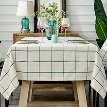 Sytlish Table Cloth Country Style Plaid Print Multifunctional Rectangle Table Cover Tablecloth Home Kitchen Decoration 1pc simanfei linen table cloth country style plaid print stylish rectangle table cover tablecloth home kitchen decoration