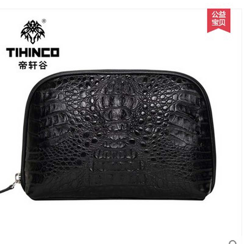tihinco 2017 new hot free shipping Luxury real crocodile bag large capacity font b men b