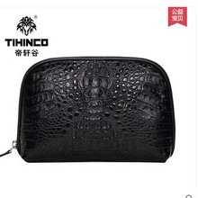 tihinco 2017 new hot free shipping Luxury real crocodile bag large capacity men wallet men bags