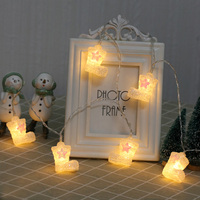 Christmas Boots Led String Light Christmas Garden Holiday Pendant Garland Wedding Decoration Fairy Lights Party