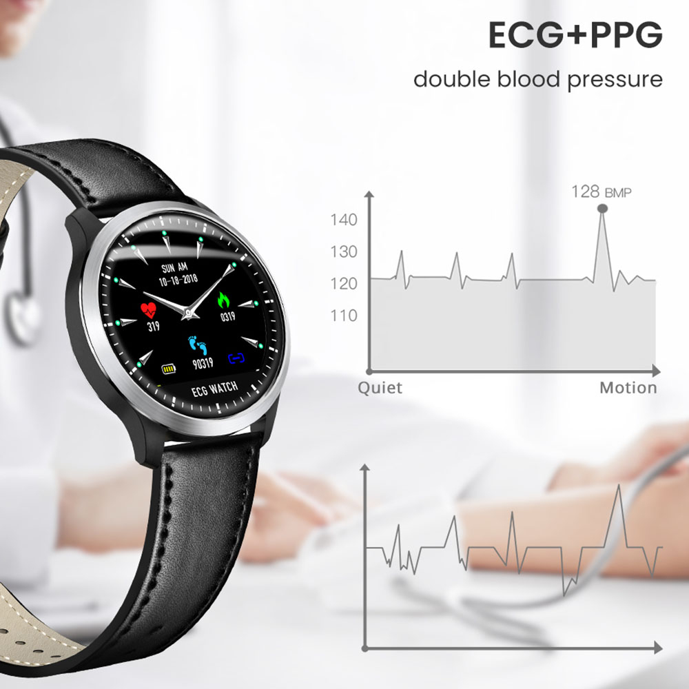 Image 5 - Makibes BR4 ECG PPG Smart Watch Men with electrocardiogram Display Holter Heart Rate Monitor Blood Pressure android Smartwatch-in Smart Watches from Consumer Electronics