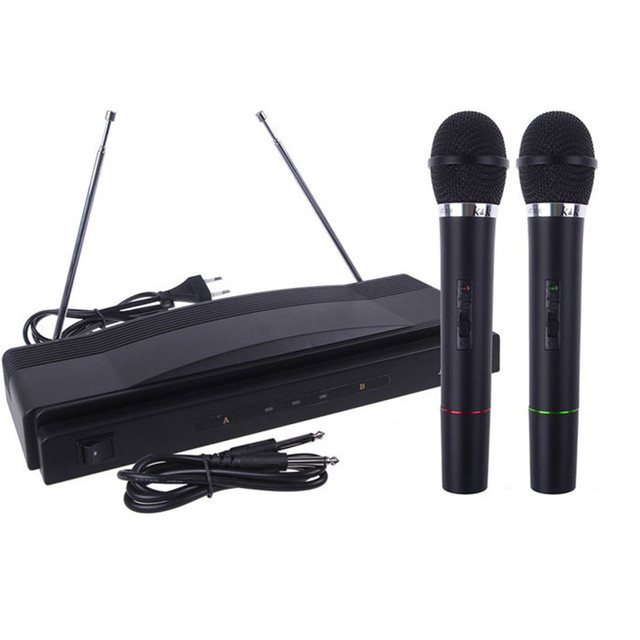 Drop shippingSimpleStone Professional Wireless Microphone System Dual Handheld + 2 x Mic Cordless Receiver May27 mosunx