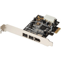 PCIe to 3 Ports 1394 B A card External Firewire 800 400 IEEE 1394 PCI express card For HD video capture card