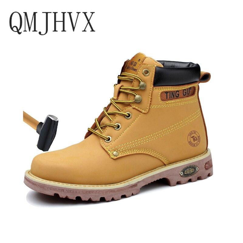 2019 nouveau hommes de grande taille en plein air en acier embout militaire travail, bottes de sécurité chaussures hommes armée anti-crevaison bottes zapatos de hombre