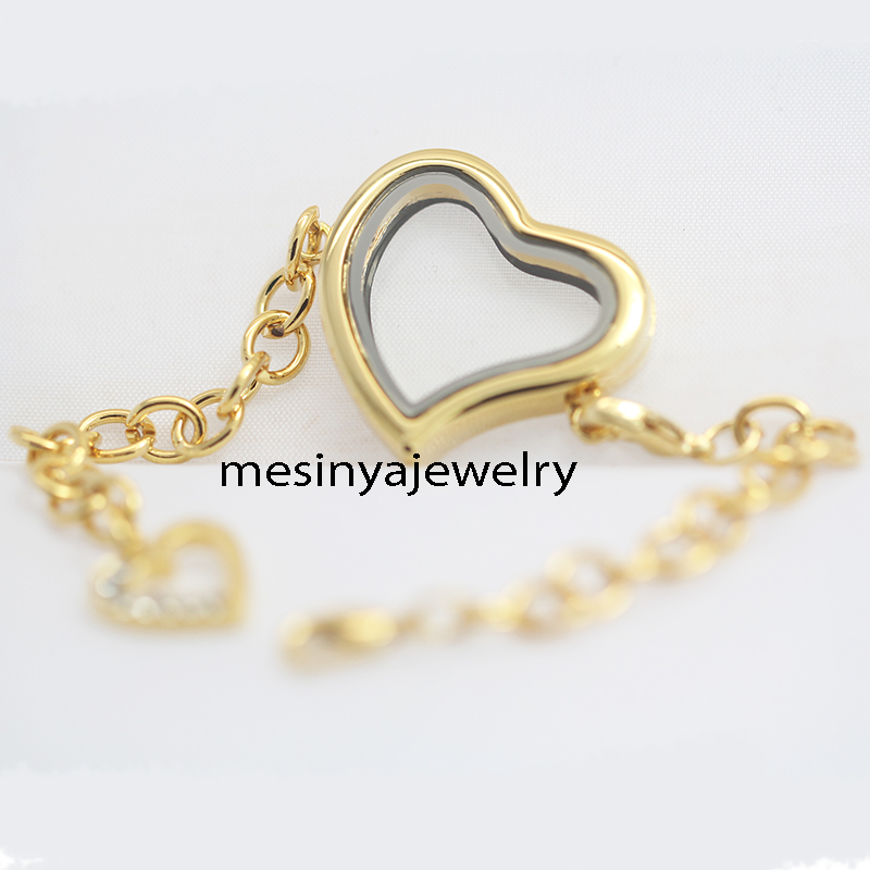 10pcs Expensive PVD Gold Floating Charm Magnet Memory
