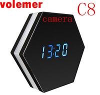 Volemer 2017 New Mini Camera Night Vision Electronic Clock Wireless IP P2P CCTV TV Baby Monitor
