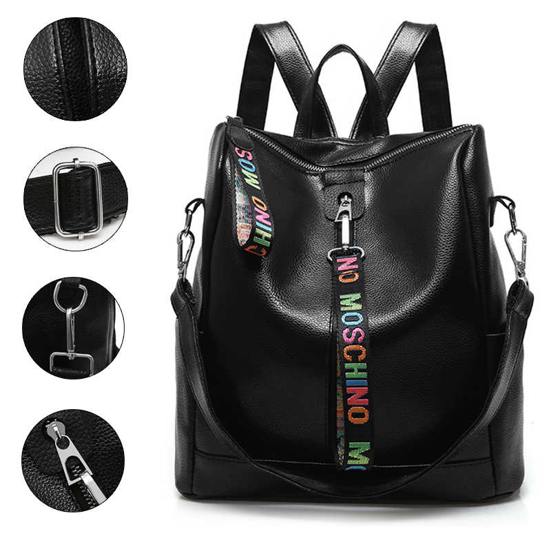 Women 100% PU Leather Backpack High Quality Youth Backpacks for Teenage Girls Female School Shoulder Bag Bagpack
