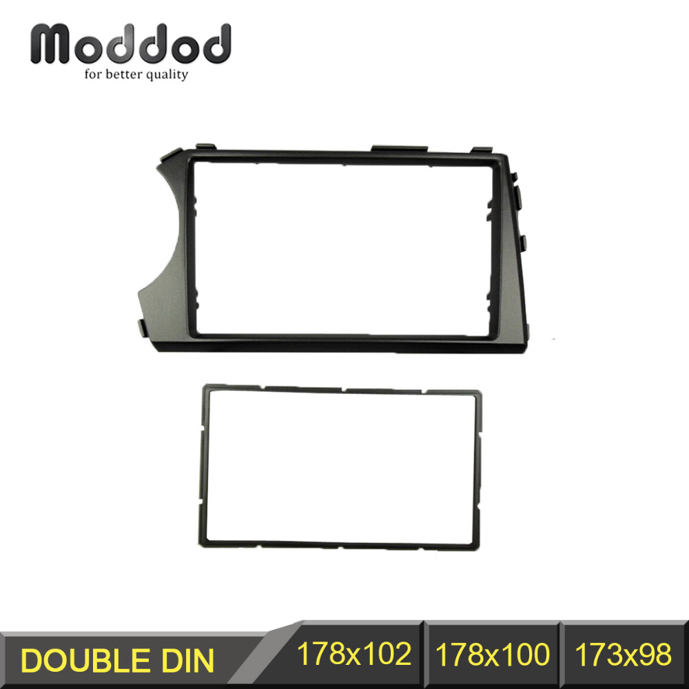 2 Din Audio Fascia for Ssang Yong Actyon 2006-2009 Kyron Radio GPS DVD Stereo CD Panel Dash Mount Installation Trim Kit Frame double 2 din fascia for chevrolet spark m300 radio frame gps dvd stereo cd panel dash mount installation trim kit 2din page 3