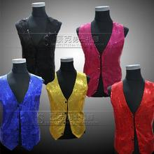 Red blue Sequins men vest bodybuilding clothing camisas regatas masculinas bodybuilding fitness men clothes imported clothing