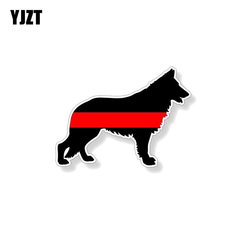 Exterior Accessories Yjzt 12.7cm*9.4cm Animal German Shepard Fireman K9 Dog Car Sticker Pvc Decal 12-0577 Exquisite Craftsmanship;