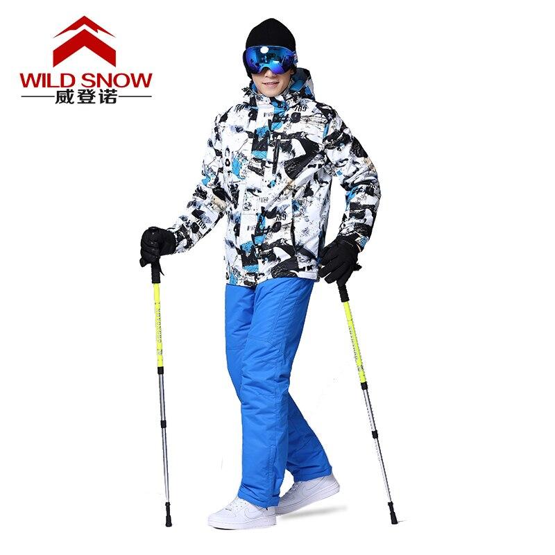 Combinaisons de Ski professionnelles femmes hommes chaud hiver vestes de Ski + pantalon imperméable Ski snowboard vêtements ensemble marque HXT01