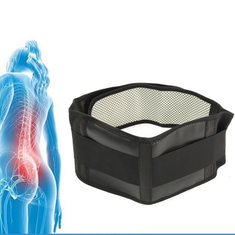 Adjustable Tourmaline Self-heating Magnetic Therapy Waist Support Belt Belt Lumbar Back Waist Support Brace Double Banded megalight xf8031al white
