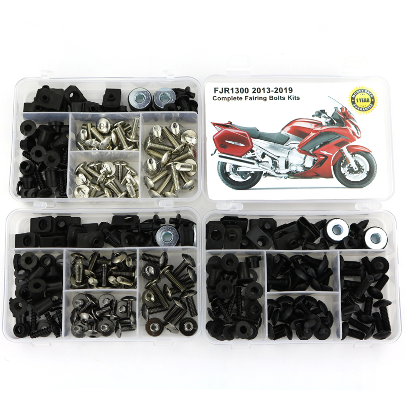 For Yamaha FJR1300 2013-2019 Full Fairing Bolts Kit Covering Bolts Motorcycle Complete Fairing Clips Nuts Screws Steel