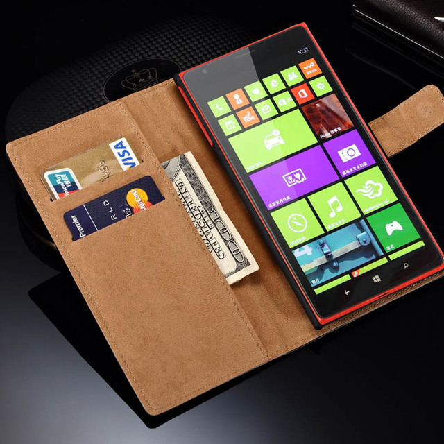 sneakers for cheap d9bbe 08d35 US $3.32 |Genuine Leather Case for Nokia Lumia 1520 Flip Style Stand Wallet  Phone Cover For Lumia 1520 Cases with Card Money Holder-in Wallet Cases ...