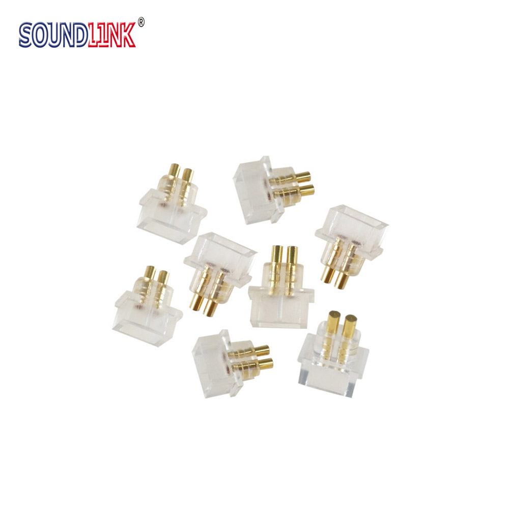 2 PCS IEM Female Socket Jack 0.78 Mm Earphone Pins Plug Recessed Cable Connector For Custom In-ear Monitors