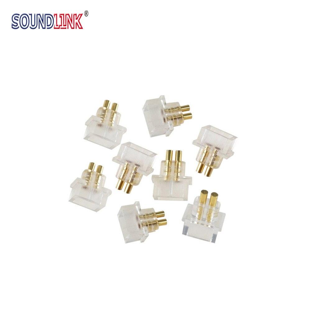 2 Stücke Iem Buchse Jack 0,78mm Kopfhörer Pins Stecker Einbau Kabel Stecker Für Benutzerdefinierte In-ohr Monitore