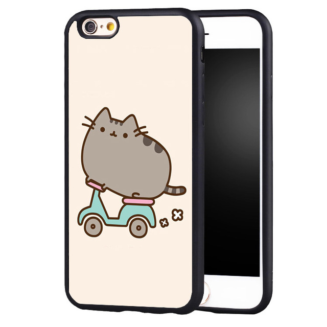 best cheap beeb1 69491 US $4.99 |Pusheen Cat Extreme Sports Rubber cover case For iPhone 5 5C 5S  SE 6 6plus 6S 7 Plus on Aliexpress.com | Alibaba Group
