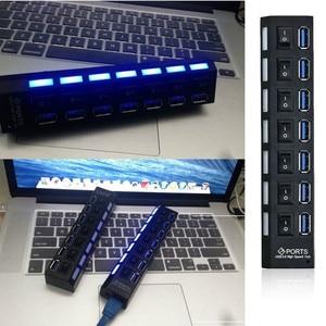 Image 5 - USB HUB 3.0 4/7 منافذ المصغّر USB 3.0 HUB الفاصل مع محول الطاقة USB هب عالية السرعة 5 جيجابايت في الثانية USB الخائن 3 محور للكمبيوتر