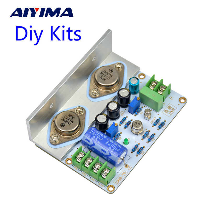 Aiyima 1PC JLH 1969 Class A Amplifier Board berkualiti tinggi PCB MOT / 2N3055 Diy Kit