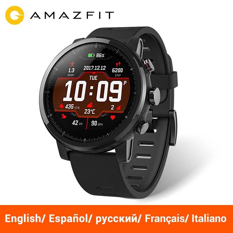 Huami Amazfit Stratos Rythme 2 Smartwatch montre intelligente bluetooth GPS nombre de Calories moniteur de cœur 11 Type Sport Mode 50 M Étanche