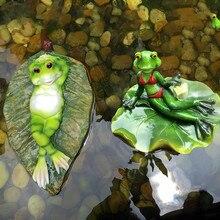 New Creative Garden Pond Frog Floating Ornaments Home Decorative Landscaping Aquarium Decoration Animal