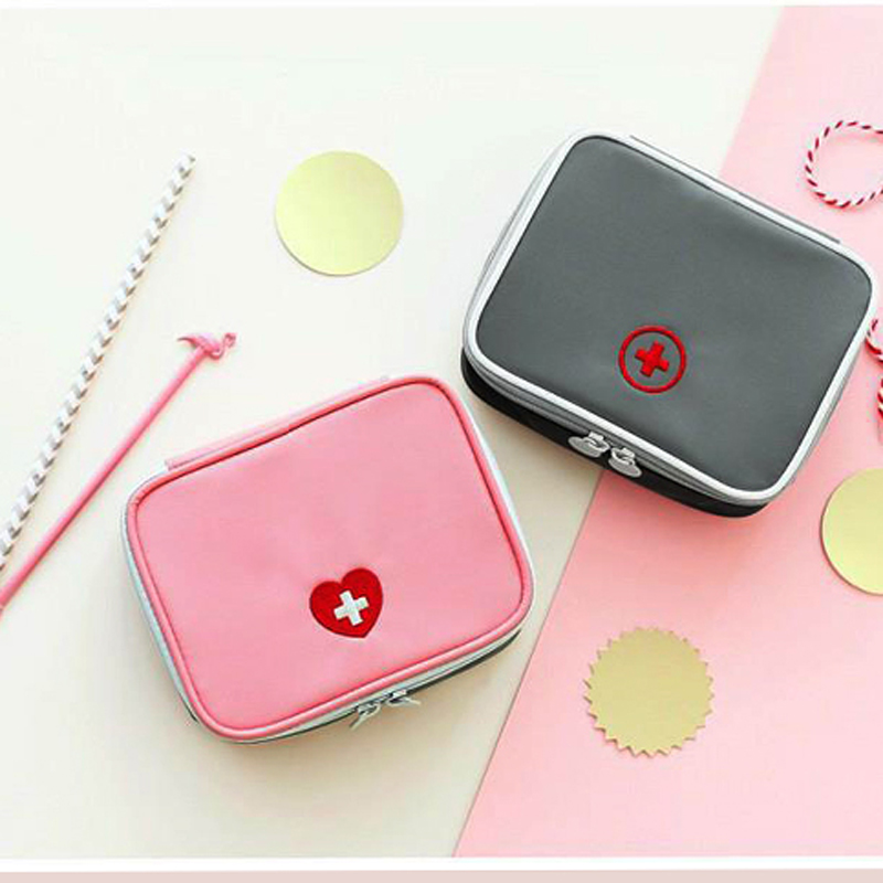 Mini First Aid Kit Pink/Gray Emergency Survival Portable Medicine Kit First Aid Storage Bag Medical Camping Cosmetic Bag DJJ001Mini First Aid Kit Pink/Gray Emergency Survival Portable Medicine Kit First Aid Storage Bag Medical Camping Cosmetic Bag DJJ001