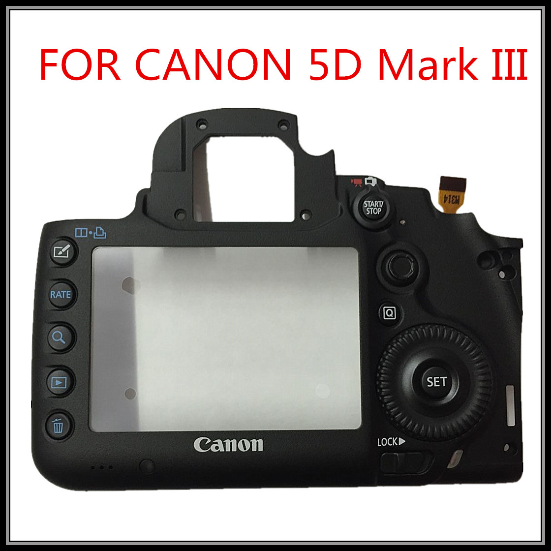 100% New original For Canon shell FOR EOS 5D3 EOS 5D MARK III 5DIII back cover shell back button group new original 5d iii lcd top cover head flash cover for canon 5diii top 5d mark iii open unit 5d3 cg2 3197 020 digital camera