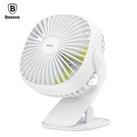 Baseus Mini USB Fan On Desktop Clip Fan For Office Home Portable Electric Fan 2000mAh Rechargeable