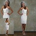 Мода Аппликации Шнурка Длиной До Колен Оболочка Короткие Свадебные Платья 2017 Тюль Милая Пояса Невесты Платье На Заказ Платье De Noive