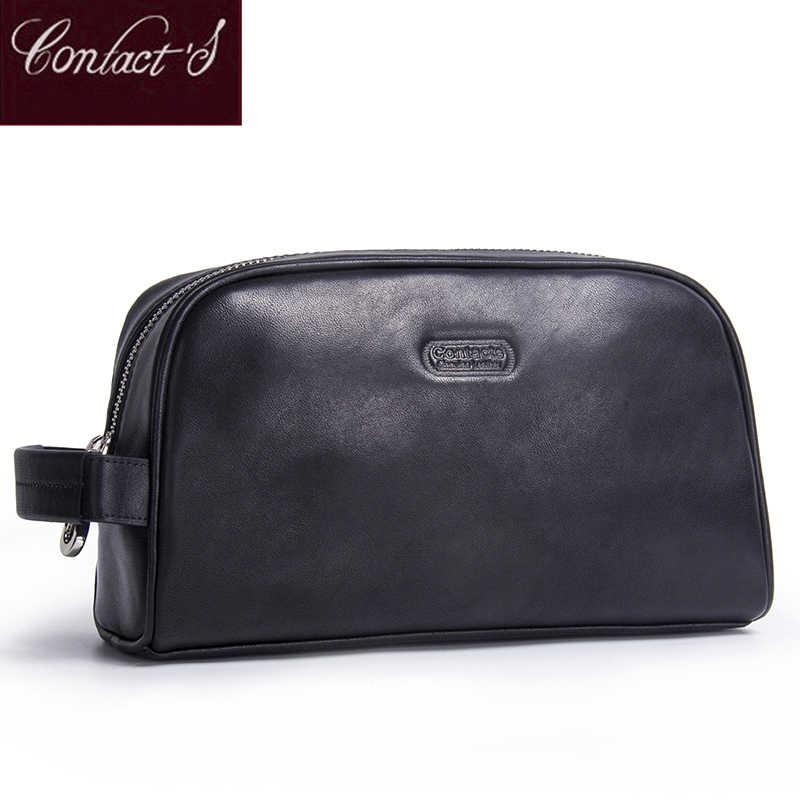 aca93df90edc Новый пояса из натуральной кожи косметический сумки для женщин  универсальный органайзер портативный косметичка на молнии Путешествия